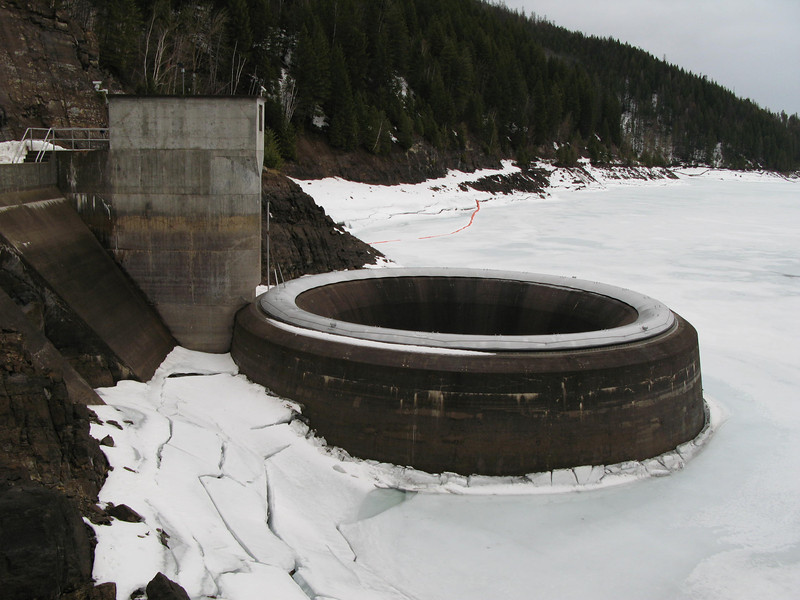 Spillway at Hungry horse dam