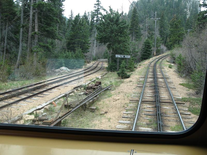 Cogwheel railroad up Pike's Peak, 2007
