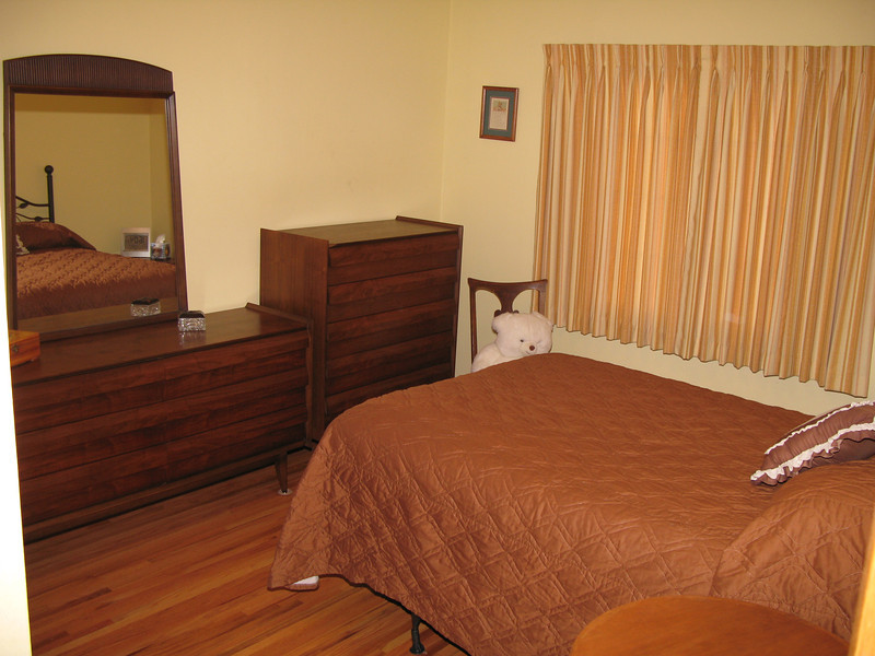New furniture - moved old furniture to guest room