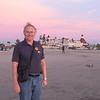 Bob on beach; Del Coronado hotel in background