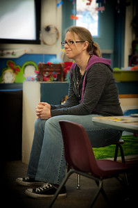 007 Laura Adams Bowers: Watching her son's kindergarten class celibrating his birthday.