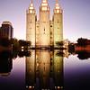 Salt Lake LDS Temple - Evening twilight