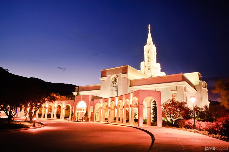Bountiful Utah LDS Temple - Early Morning twilight