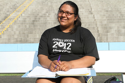Marist School senior Jocelyn Calvillo is a manger for the girl's soccer team. She also serves in a leadership capacity in campus groups, including the diversity club and the environmental club. Calvillo, who plans to attend Agnes Scott College, Decatur, will be the first in her family to attend college.  (Page 1, May 10, 2012 issue)