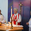 Bishop Cate at our altar -