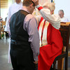 Rich makes his adult profession of faith, and is blessed by Bishop Cate -