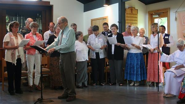 Joe leads the choir -