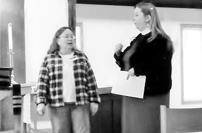 Jane and Whitney speak at the Annual Meeting, January 2012.