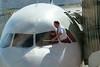 Trip to Albuquerque - pilot washing his windshield