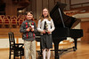 "Nolan and Lauren at 3/8/2014 Piano Recital.  Nolan finished ""Book 1""; Lauren finished ""Book 3"""