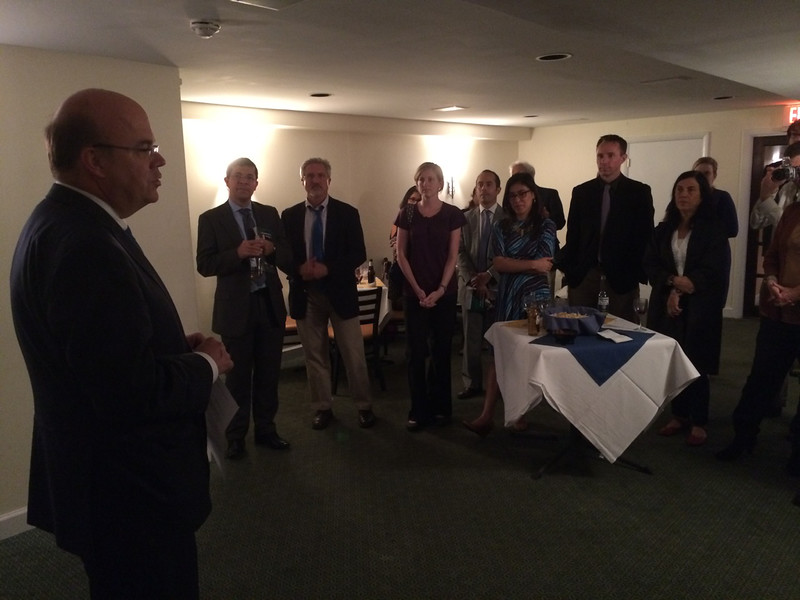Congressman Jim McGovern congratulates PBI on its 20th anniversary