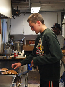 Tradition has the youth support crew rise 2 hours before the rest of camp to assist the Camp Cook in prepping for breakfast.  Thanks for the great pancakes Rhiley Claeys!