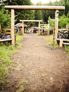 Toll gates at the Fish Lake historic site - wonderful place to visit, for more information: http://www.fishlakehistoricsite.org/