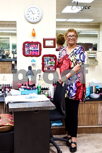 Joyce Francis poses for a portrait at her manicure station at Fenton Salon in Tyler, Texas, on Tuesday, April 18, 2017. Francis has had a 65 yearlong career in cosmetology and has only worked at Fenton Salon. (Chelsea Purgahn/Tyler Morning Telegraph)