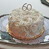 The Anniversary cake. Happy 60th!