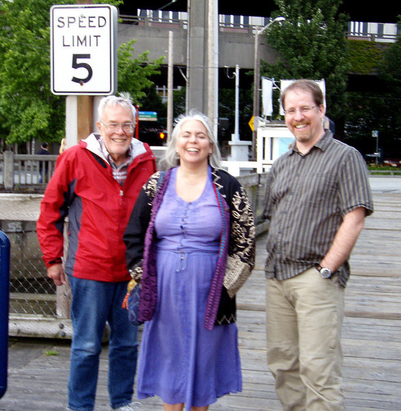 In Seattle, a little blurry but having fun