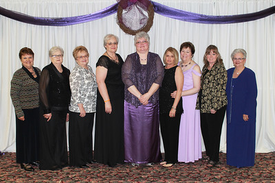 Kappa Sigma - Carolyn Ryan, Linda Cotterman, Glenn Gay, Carol Davis, Ann Southall, Kay Lynn Looney, Theda Hall, Kelly Carter, and Pam Mynatt
