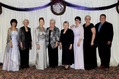 2014 ESA Outstanding Members - Kathy Riggs, Pat Trinca, Ann Akins, Linda Weadock, Audrey Wright, Sonja Robertson, Carol Davis, and Brian Davis