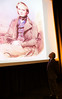Professor Nicholas Day CBE FRS looks up at youthful Darwin 071109