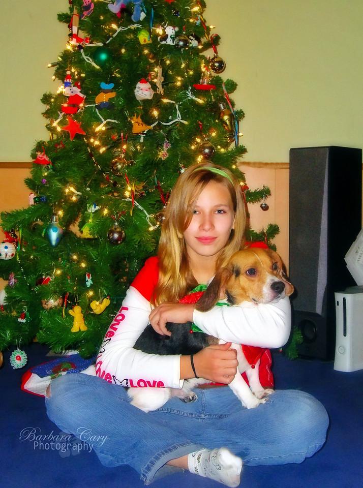 Adrienne and her beloved Cassie.