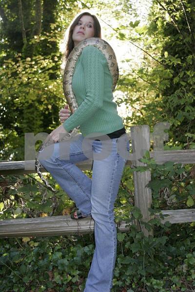Snake & woman 2929