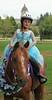 Girl, horse 1136c