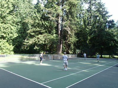 YES, time for pickleball at Cornwall Park - four tennis courts lined for PB.