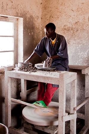 Potter, Gatagara, Rwanda, 2011