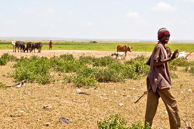 Maasi herders, Amboeseli National Park, Kenya, 2010