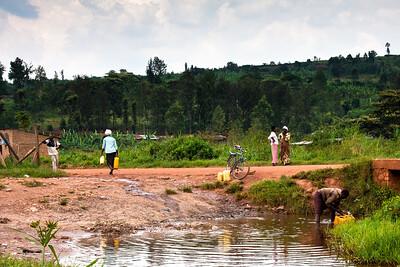 Village water near Kigali, Rwanda, 2010