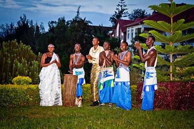 Traditional Rwandan dancers in Kigali, Rwanda 2010