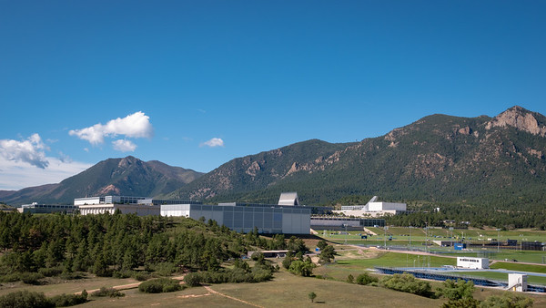 On the way in; grounds of the Air Force Academy