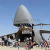 US Military cargo plane on display during an open house and air show at March Air Reserve Base in Moreno Valley, California.