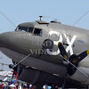 Twin- engine propeller military troops transport plane on display during an open house and air show at March Air Reserve Base in Moreno Valley, California.
