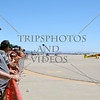 Spectators during an airshow at March Air Reserve Base near Moreno Valley, California.