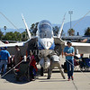 The F-18 Hornet NASA aircraft on display during an air show event at March Air Reserve Base near Moreno Valley, California.