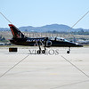 A Patriots jet taxies on the flightline during an airshow at March Air Reserve Base near Moreno Valley, California.