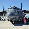 The C-130 Hercules aircraft during an air show event at March Air Reserve Base near Moreno Valley, California.