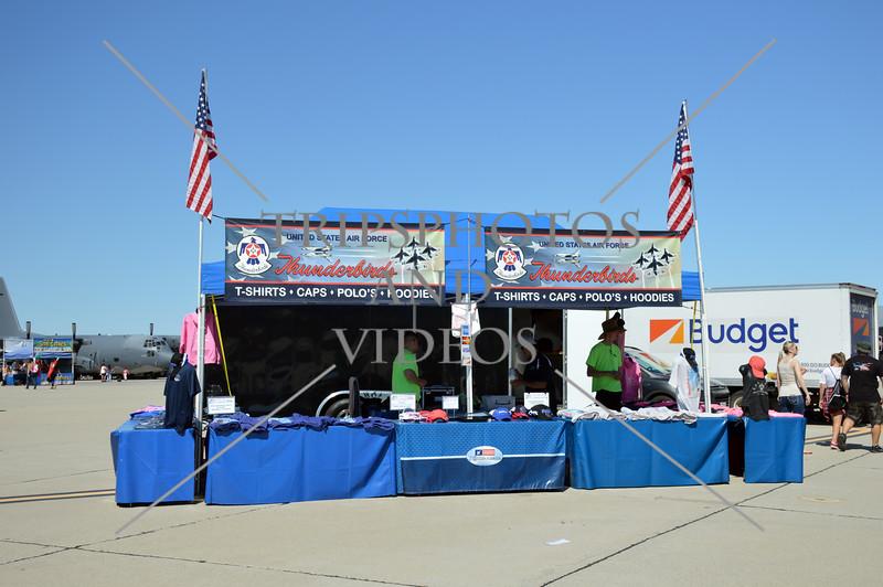 A souvenir stand during an air show event at March Air Reserve Base near Moreno Valley, California.