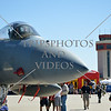 The F-15 Strike Eagle military aircraft on display during an air show event at March Air Reserve Base near Moreno Valley, California.