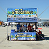 A smoothies stand during an air show event at March Air Reserve Base near Moreno Valley, California.