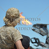 Boy watching the Robosaurus demonstration during an air show event at March Air Reserve Base near Moreno Valley, California.