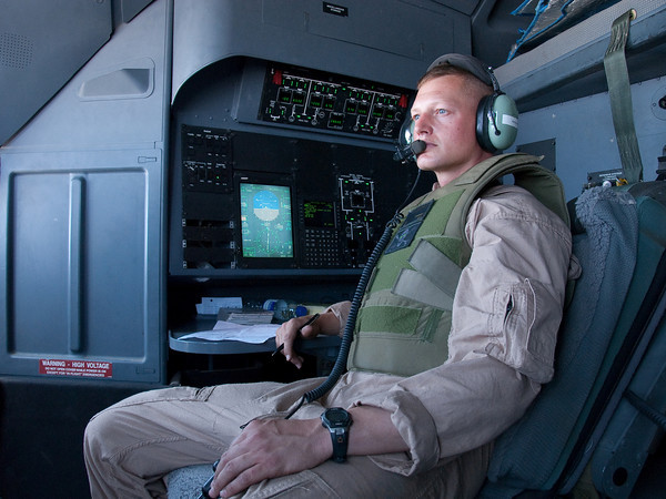 KC-130J aircrew on station over Afghanistan