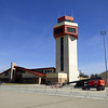 The Air Traffic Control Tower at March Air Reserve Base in Moreno Valley, California.