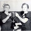 Mrs. Akers and woman, one receiving membership award (08505)