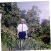 Dr. Akers outside in garden, Oct. 1958 (08504)