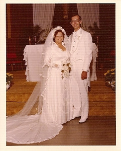 Leticia Chavez Fischer and Bob were married Aug. 9, 1980.