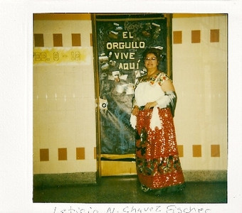 Leticia Chavez Fischer, pictured in a costume from the China Poblana region of Mexico at Lorain High School in the 1980s, received a Hispanic Leaderschip Recognition Award from the Hispanic Fund Advisory Committee of the Community Foundation of Greater Lorain County in 1995.