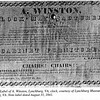 Label of Alanson Winston, Lynchburg, VA Clock (5042)