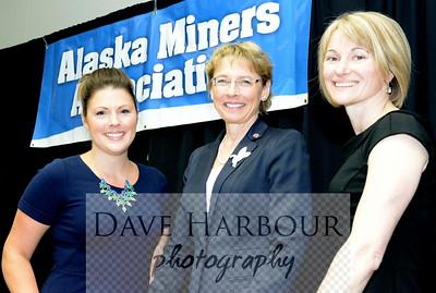 Deantha Crockett, Cathy Giessel, Karen Mathias, AMA Celebration of Mining Day (5-10-14) at 5-9-14 breakfast meeting, Photo: Copyright Dave Harbour 2014